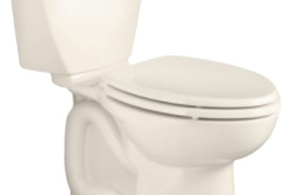 american standard cadet 3 right height elongated flowise twopiece high efficiency toilet with 10inch roughin linen linen